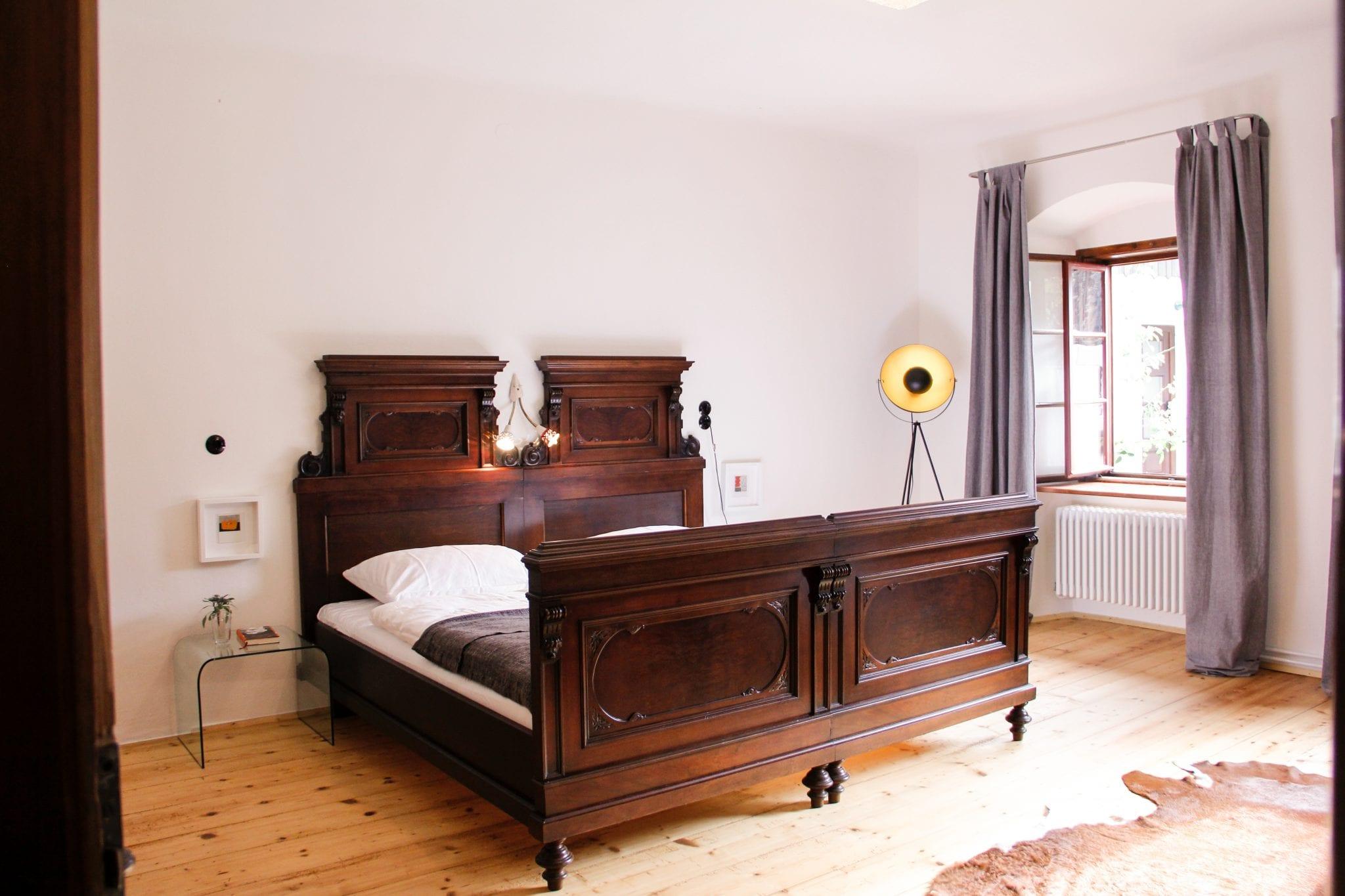 Doppelbett im Bürgermeisterzimmer