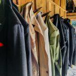 Garderobe in der Scheune